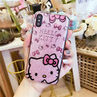 Cute Hello Kitty Shimmering Soft TPU Back Case Cover for iPhone X 8 6 6s 7 plus