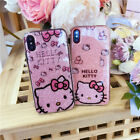 Cute Hello Kitty Shimmering Soft TPU Back Case Cover for iPhone 6 6s 7 plus