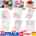 Cupcake Box 1/2/4/6/12/24 Holes Window Face Party Wedding Baby Xmas Gift Boxes