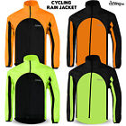 Mens Cycling Waterproof Jacket High Visibility Running Top Rain Coat M to 2XL