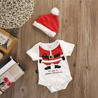 Baby Jumpsuit Rompers Santa Clause Boy Girl Christmas Dinner Clothes Newborn Out