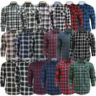 Mens Check Shirt Brave Soul Flannel Brushed Cotton Collared Casual Top S-XL
