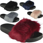 New Womens Ladies Rubber Multi Pom Pom Sliders Flats Shoes Slides Slippers Size