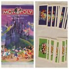 Monopoly Disney Edition Board Game REPLACEMENT Parts Pieces Cards Scoop