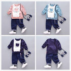 Newborn Romper Toddler Kids Boys Girls Hooded Tops +Pants 2PC Outfits Set Clothe