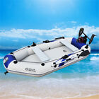 3-4 Person Summer Fun Water Floating Inflatable Fishing Boat Canoe Raft Dinghy