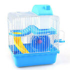 New 2 Floors Gorgeous Small Animals Hamster Mouse Cage Small Castle Roller Slide