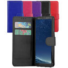 Premium Wallet Case Leather Flip Cover For Samsung Galaxy S8+ Plus Case + Screen