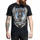 Affliction Men's Easyriders Deadhead T-shirt black lava wash A11584