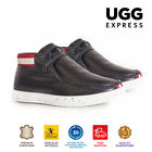 UGG Mens Fashion Shoes Florence - Lace Up, Sheepskin Inner & Suede Upper