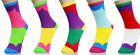 New Womens Multi Colors Crew Novelty Socks Poleyster 9-11 Fashion Cute 1 Pack