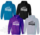 Slogan,evolution English Bull Terrier dog KIDS SIZE`S ADULT SIZE`S HOODIE