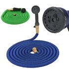 Eaglewill 50FT Latex Garden Water Hose Expanding Flexible w/ Metal Spray Nozzle