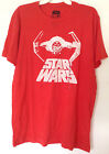 STAR WARS TIE FIGHTER GRAPHIC TEE T-SHIRT RED BRAND NEW MENS DARTH VADER