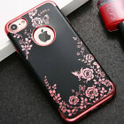 For Iphone 7 8 & 7  8  Plus   Soft Tpu Rubber Gummy Case Cover Flower Butterfly