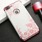 for iPhone 7/8 & 7+/8+ PLUS - Soft TPU Rubber Gummy Case Cover Flower Butterfly