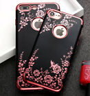 for iPhone 7 & 7+ PLUS - Soft TPU Rubber Gummy Skin Case Cover Flower Butterfly