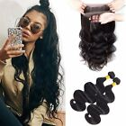 Brazilian Virgin Hair Body Wave Hair Weave Bundles with 360 Lace Frontal Closure