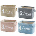 Home Decor Canvas Storage Bins Closet Toy Box Container Organizer Fabric Basket