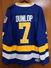 Ice Hockey Jersey Slap Shot Reggie Dunlop 7 Charlestown Chiefs Blue Stitched