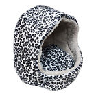 Pet Dog Cat Bed House Kennel Leopard Print Puppy Soft Warm Cushion Pad