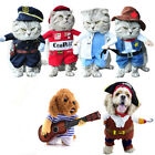 Cosplay Party Pet Costume Suit Uniform Clothes Halloween Pirate Dog Cat Clothing