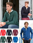 Front Row Mens Super Soft Long Sleeve Rugby Polo Sailing Shirt Collar Buttons
