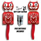 SCARLET RED KIT CAT CLOCK 15.5 Free Battery MADE IN USA New LIMITED EDITION