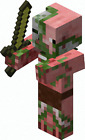 Mine-craft Characters  Pigman & Others Vinyl Wall Sticker Various Sizes