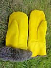 VINTAGE NORGI ARMY COLD WEATHER ARCTIC MITTENS SHEEPSKIN FUR BUSHCRAFT GLOVES