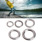 Внешний вид - 50Pcs Fishing Solid Stainless Steel Snap Split Ring Lure Tackle Connector