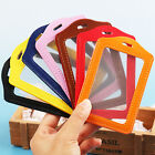 Quality Photo ID Card Holder | Black | Tan | Pink | Orange | Red | Yellow | Blue