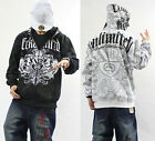 #65 Hip Hop ECKO UNLTD Graffiti Printing Zipper Hoodie Cotton Sweater Sweatshirt