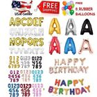 16'/30' Large Foil Letter Number Balloons Birthday Wedding Party + Free Balloons