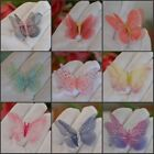 Внешний вид - 5cm Double Sided Organza Fabric Butterflies Wings Craft Jewelry Bows Deco