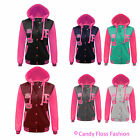 CLEARANCE NEW WOMENS BASEBALL LADIES VARSITY HOODIE SWEATSHIRT JACKET