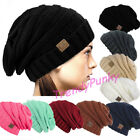 Bubble Knit Slouchy CC Baggy Beanie Oversize Winter Hat Ski Skull Women Cap