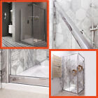 Rev Shower Enclosure Sliding Door Side Panel Tray Bathroom 6mm Glass