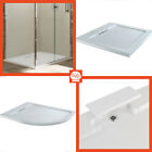 Hidden Waste Low Profile Shower Trays White Stone Resin Quadrant Square