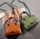New Women Genuine Cow Leather Shoulder Messenger Bag Oil Wax Travel bag 4colors
