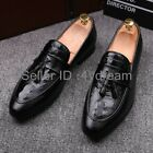 Men's Show Loafer Pointed Toe Oxfords Tassel Dress Formal Wedding Slip On Shoes