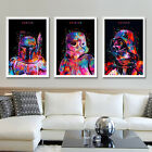Star Wars Movie Poster Art Minimalist Canvas Print Stormtrooper Yoda Darth Vader $23.99 AUD