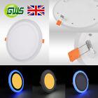 LED RECESSED/SURFACE MOUNTED BLUE EDGE LIT PANEL LIGHT ROUND/SQUARE DOWNLIGHT