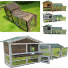 RABBIT HUTCH GUINEA PIG HUTCHES RUN LARGE 2 TIER DOUBLE DECKER CAGE 4 COLOURS