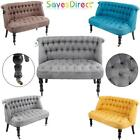 Contemporary 2 Seater Sofa Chair Tuffed Buttons 5 Colours Home Office (7433-T2)