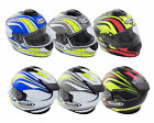GSB G350 FULL FACE MOTORCYCLE SCOOTER CRASH HELMET WITH DROP DOWN VISOR ECE22.05