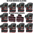 Boxing Gloves Sparring Punching Bag Muay thai Kickboxing 10 Pairs Deal Black