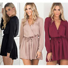 New Women Clubwear Long Sleeve Playsuit Bodycon Party Jumpsuit Romper Trousers