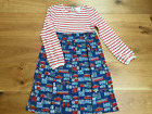 GIRLS EX MINI BODEN LONDON ENGLAND JERSEY DRESS FADED WASHED LOOK SECONDS DEFECT