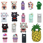 Lucky Cat Unicorn ice Rabbit Pineapple Pig Silicone Case For Samsung Galaxy S8